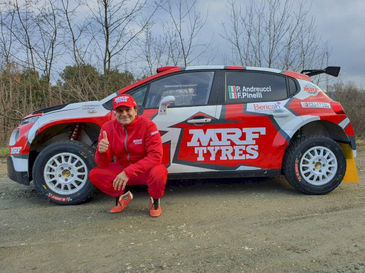 Paolo Andreucci with his Team MRF Tyres Citroen